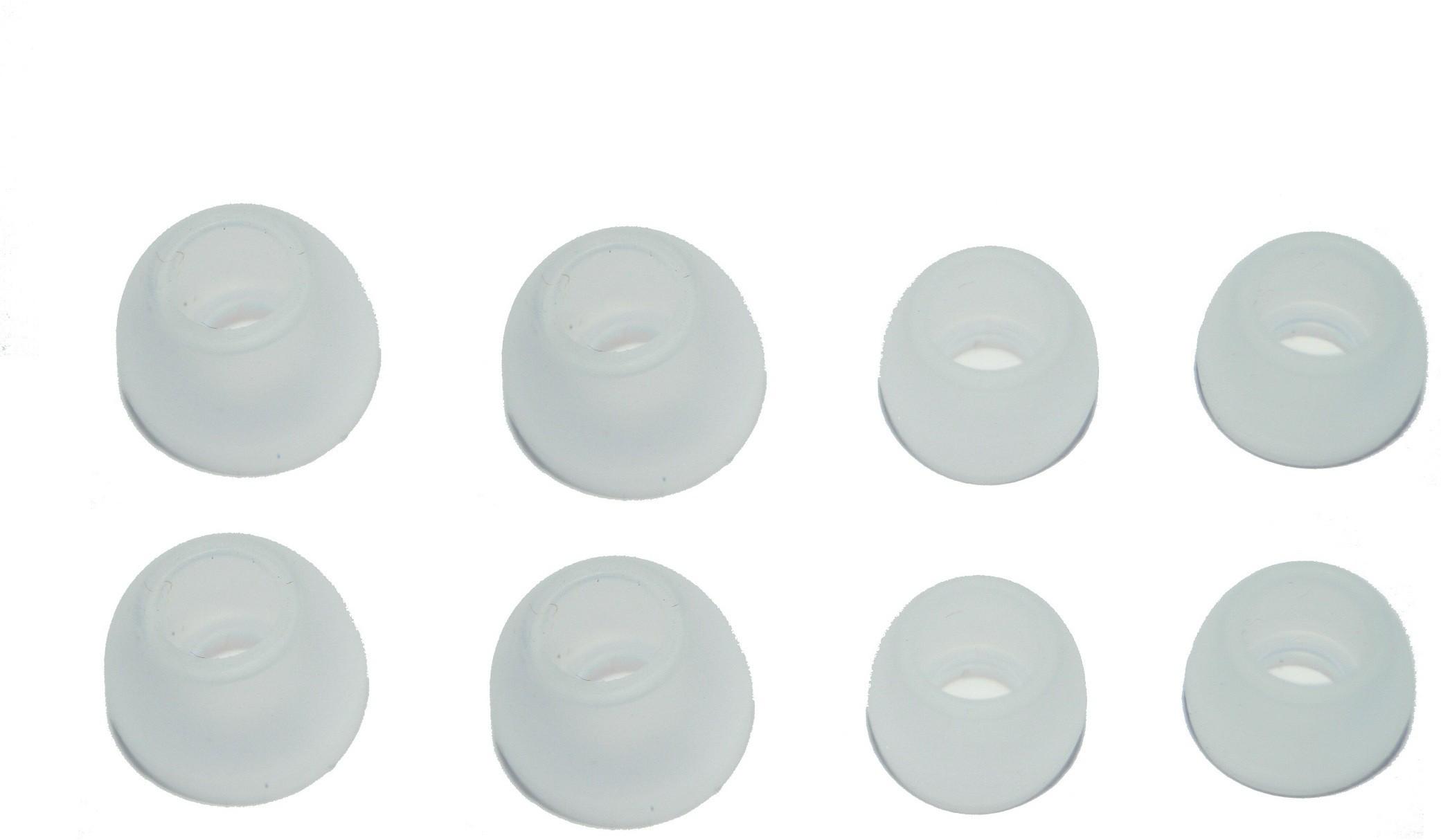 atabz White Silicon earphone buds tips 4pair In The Ear Headphone Cushion