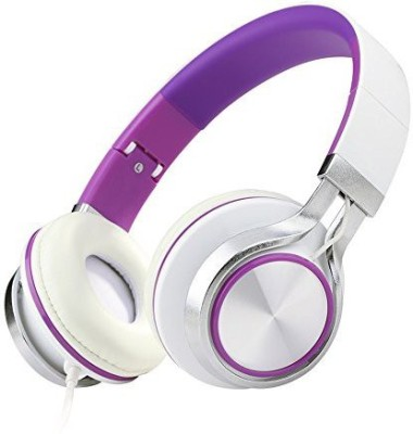 Ecoopro Lightweight Portable Adjustable Wi Over Ear Stereo Headphones Earphone For Mp3 Mp4 Pc Tablets Cell Phones (Purple) Headphones