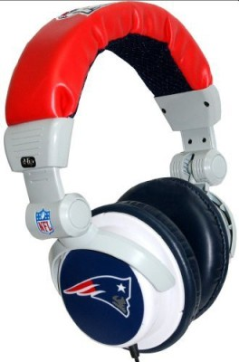 Ihip Nfh22Nep Nfl New England Patriots Dj Style Headphones- Blue/Red/ (Discontinued By Manufacturer) Headphones