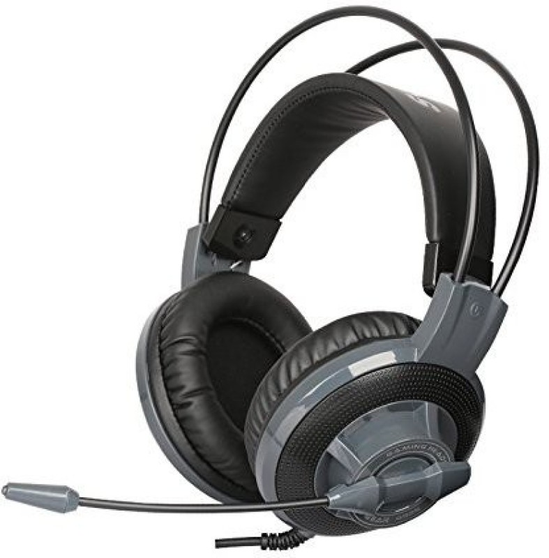 Estone Wi Stereo Over Ear Gaming Headset Headphones Earphone With Microphone And Volume Control Grey Headphones(Black)