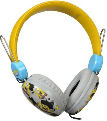 Sakar Over The Ear Kids Safe Headphones (Spongebob) Headphones(Yellow)