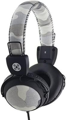 Moki Acchpcamgy Camo Headphones With In-Line Mic And Control, Gray Headphones