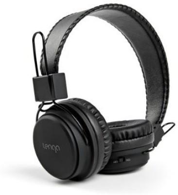 Tenqa Remxd On-Ear Wireless Bluetooth Headphones With Mic, Black Wired bluetooth Headphones