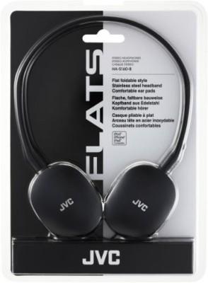 JVC Ha-S160-B-E Flats Lightweight Headphones Headphones(Black)