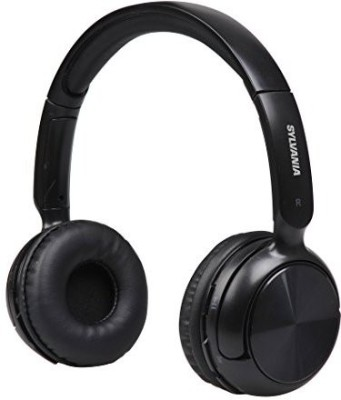 Sylvania Sbt235-Black Bluetooth Wireless Headphones With Microphone, Black Wired bluetooth Headphones