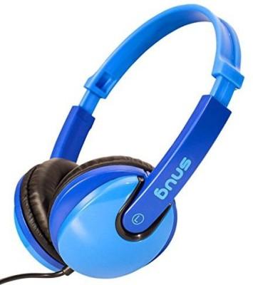 Snug Plug N Play Kids Headphones For Children Dj Style (Blue) Headphones