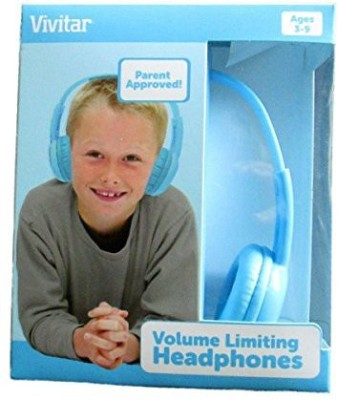 Vivitar V12009-Blu Kids Safe Volume Controlled Headphones, Blue Headphones