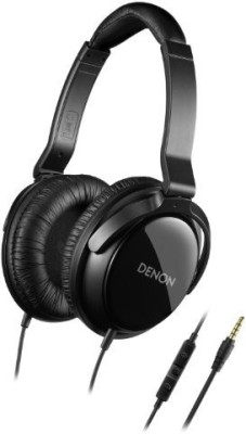 Denon Ah-D310R Mobile Elite Over-Ear Headphones With 3 Button Remote And Mic () (Discontinued By Manufacturer) Headphones(Black)