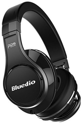 Bluedio U (Ufo) Premium High End Wireless Bluetooth Headphones With Mic (Pure Black) Wired bluetooth Headphones(Black) at flipkart