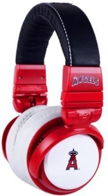Bigr Audio Mlb Licensed Over-Ear Headphones With Mic, Los Angeles Angels Headphones