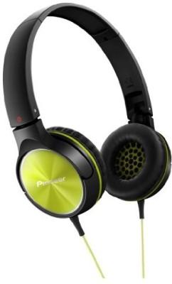 Pioneer Fully Enclosed Dynamic Headphones Se-Mj522-Y (Lime) Headphones(Black)