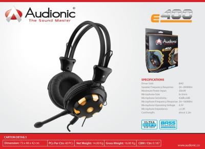 Audionic E-400 Bass Enhancement technology Stereo Headphone Wired Headphones