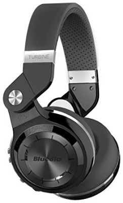 Bluedio 3104437 Bluedio Turbine T2s Wireless Bluetooth Headphones with Mic, 57mm Drivers/Rotary Folding (Black) Wired bluetooth Headphones