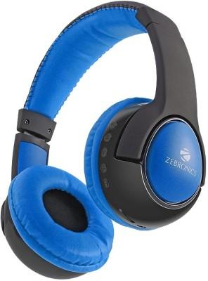 Zebronics TARANG Wireless bluetooth Headphones(Blue, On the Ear)