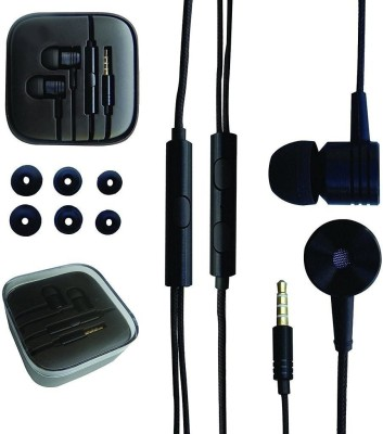 NSSTUFF Mi Piston Earphone Headphone REDMI XIAOMI Headset with volume Control and Mic (Black Color) Crystal Clear Sound Wired Headphones(Black, In the Ear)