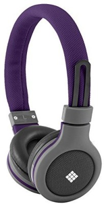 Polaroid Php120Pu Canvas Headphones With Mic, Noise Isolation Headphones
