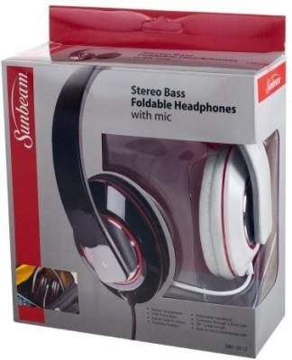 Sunbeam 72-Sb540-Wh Stereo Bass Foldable Headphones Headphones