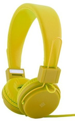 Polaroid Php8500Yl Neon Headphones With Mic, Foldable, Tangle-Proof, Compatible With All Devices Headphones