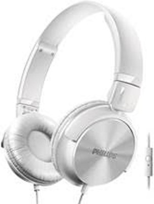 Philips SHL3095WT/94 Dynamic Headphones with mic Wired Headphones(White, On the Ear)