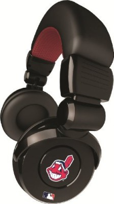 Ihip Official Mlb - Cleveland Indians - Noise Isolation Pro Dj Quality Headphone With Detachable Cord And Built-In Microphone With Headphones