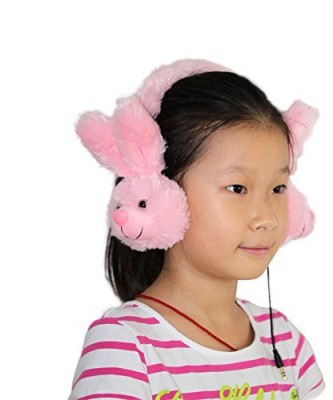 Dairle P02T1 Rabbit Kids Headphone With Hidden Retractable Cable Invisible Cord (No Mic), Children Ear Muff On Ear Headphones With Headphones