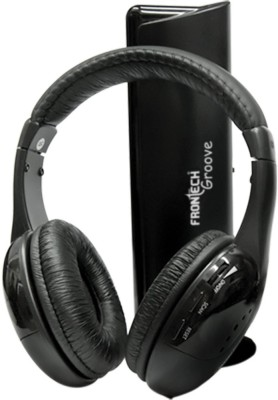 Frontech JIL-1942 Headphones(Black, On the Ear)