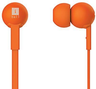 iBall Colorstick Earphone Wired Headphones(Orange, In the Ear)