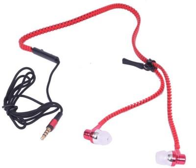 Sonilex Premium Metal Design Stylish Zipper Earphone Wired Headphones