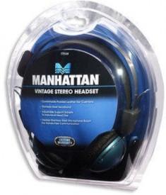 Manhattan Model 175548 ELITE STEREO HEADSET Wired Headphones