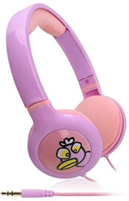 Ikross / Pink Kid Safe Over The Ear Headphone W/ Padded Design & Volume Limiter For Orbo Jr. 4Gb Headphones