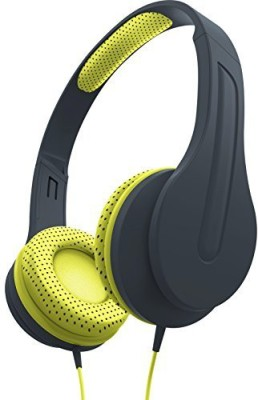 Sharper Image Shp50Bkyl Universal Premium Deep Bass Headphones With Mic Compatible With All Devices () Headphones