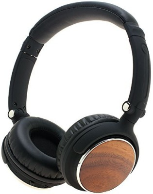 Symphonized Sensation Premium Wireless Genuine Wood Headphones (Walnut) Wired bluetooth Headphones