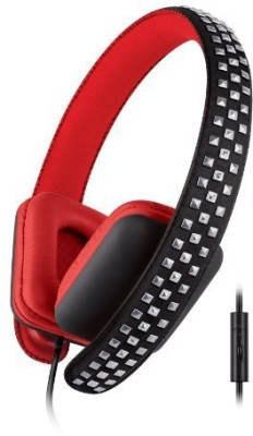 Urban Beatz Rocked Studded Headphones With Mic - Black/ (Ub-Hm200-600) Headphones