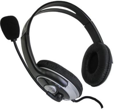 Sakar Pro Stereo Headset With Boom Mic- 79263 Headphones(Black)