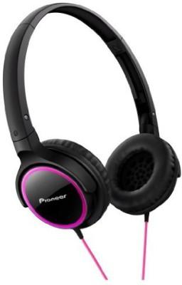 Pioneer Fully Enclosed Dynamic Headphones Se-Mj512-Pk ( & Black) Headphones