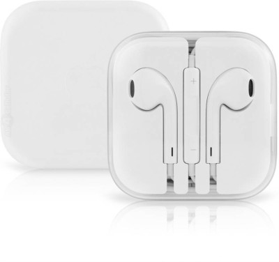 Signature Premium Quality Earpod For All iPhone Mobile Headphones(White, In the Ear)