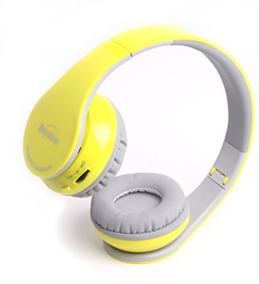 Beyution Back To School Gift--New Yellow Color 513 Hi-Fi Clear Micphone Over-Ear Bluetooth Headphones Headphones