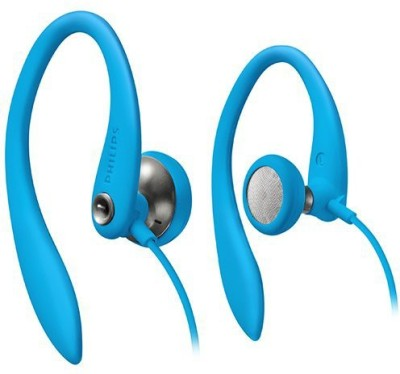 Philips Shs3200Bl/37 Flexible Ear Hook Headphones, Blue Wired Headphones