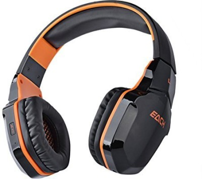 Pixnor Wireless Nfc Bluetooth Stereo Gaming Headphone Headset With Mic (Black+) Wired bluetooth Headphones