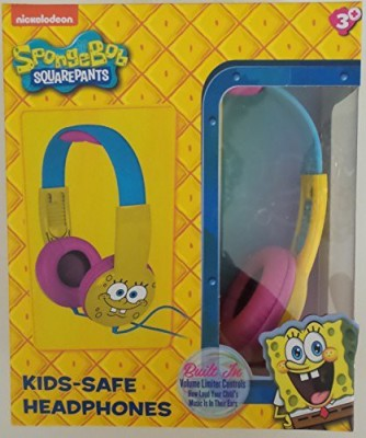 Nickelodeon Spongebob Squarepants Headphones Kid Safe Headphone Volume Limiter Headphones