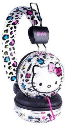 Sakar Hello Kitty 32109-Bl-Tru Bling Headphone With Mic, Cheetah Print Headphones(Multicolor)