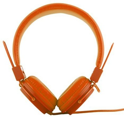 Polaroid Php8500Or Neon Headphones With Mic, Foldable, Tangle-Proof, Compatible With All Devices Headphones(Orange)