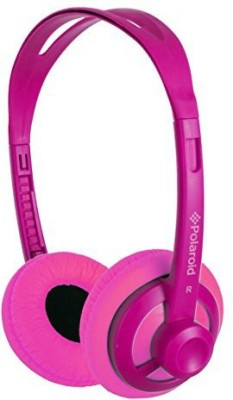 Polaroid Php11Pk Super Light Weight Neon Headphones, Tangle-Proof, Compatible With All Devices Headphones(Pink)