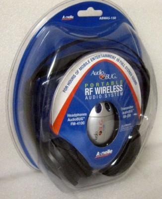 Audiobug Audio Bug Portable Rf Wireless Audio System Wired bluetooth Headphones