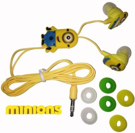 Despicable Me Minion E01 Wired bluetooth Headphones(Multicolor, In the Ear)