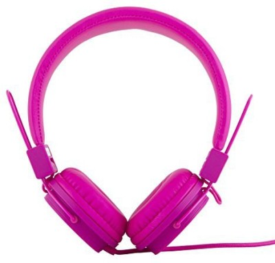 Polaroid Php8500Pk Neon Headphones With Mic, Foldable, Tangle-Proof, Compatible With All Devices Headphones(Pink)