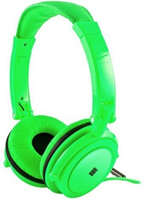 Polaroid Neon Headphones With Carring Case, Built-In Mic, Compatible With All Devices Headphones