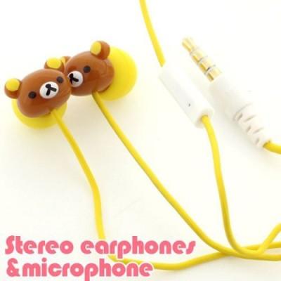 Gourmandise San-X Rilakkuma Stereo Earphones With Microphone For Iphone/Ipod (Korilakkuma) Headphones