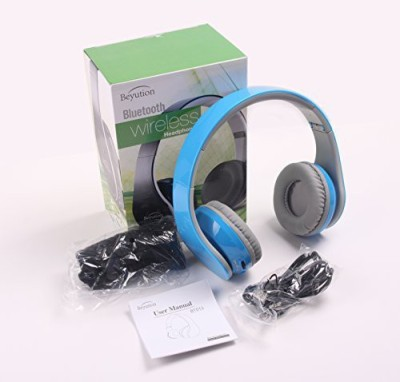 Beyution Xmas Gift---New 513 Blue@ Smart Wireless Bluetooth Headphone Black Color---For Apple/Sony/Samsung Galaxy/Microsoft/Amazon Kindle/Hipstreet/Lenovo/Nabi/Barnes & Noble Nook/Leapfrog/ Hp/ Toshiba/ Blackberry/ D2/ Wired bluetooth Headphones