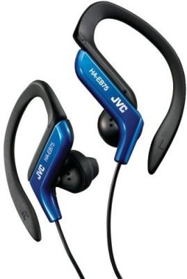 JVC Haeb75A Sport Style Ear-Clip Headphones (Blue) Headphones